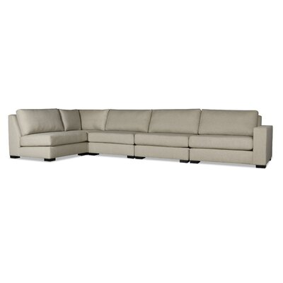 Brose L-Shape Upholstered Modular Sectional Upholstery: Sand