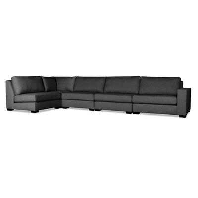 Brose L-Shape Upholstered Modular Sectional Upholstery: Charcoal
