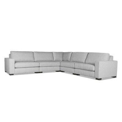 Brose Modern L-Shape Modular Sectional Upholstery: Gray