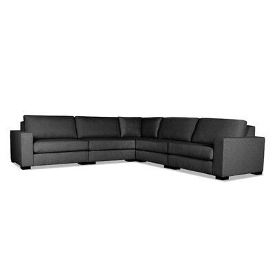 Brose Modern L-Shape Modular Sectional Upholstery: Charcoal