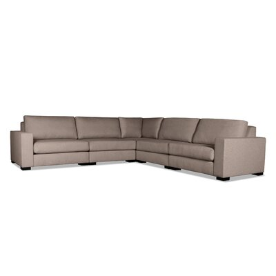 Brose Modern L-Shape Modular Sectional Upholstery: Brown