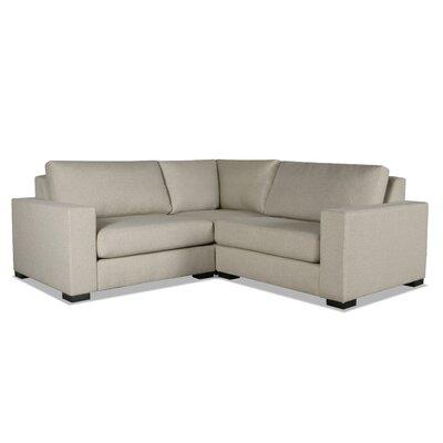 Brose L-Shape Wood Frame Modular Sectional Upholstery: Sand