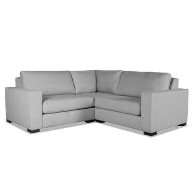 Brose L-Shape Wood Frame Modular Sectional Upholstery: Gray