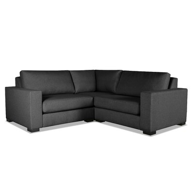 Brose L-Shape Wood Frame Modular Sectional Upholstery: Charcoal