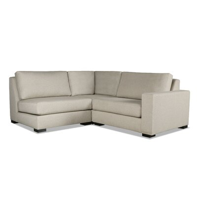 Brose Modern L-Shape Upholstered Modular Sectional Upholstery: Sand, Orientation: Right Hand Facing