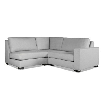 Brose Modern L-Shape Upholstered Modular Sectional Upholstery: Gray, Orientation: Right Hand Facing