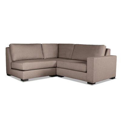 Brose Modern L-Shape Upholstered Modular Sectional Upholstery: Brown, Orientation: Right Hand Facing