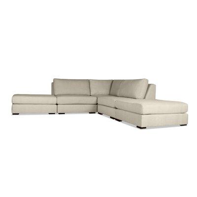 Glaude L-Shape Upholstered Modular Sectional Upholstery: Sand