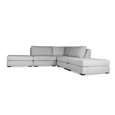 Glaude L-Shape Upholstered Modular Sectional Upholstery: Gray