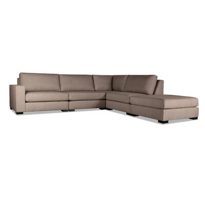Brose L-Shape Modular Sectional Upholstery: Brown, Orientation: Right Hand Facing