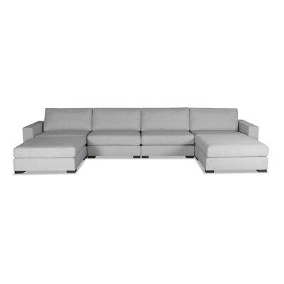 Brose U-Shape Modular Sectional Upholstery: Gray