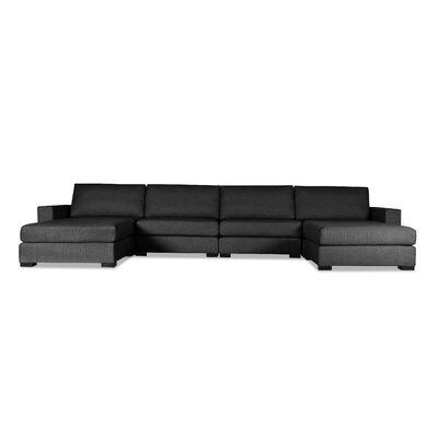 Brose U-Shape Modular Sectional Upholstery: Charcoal