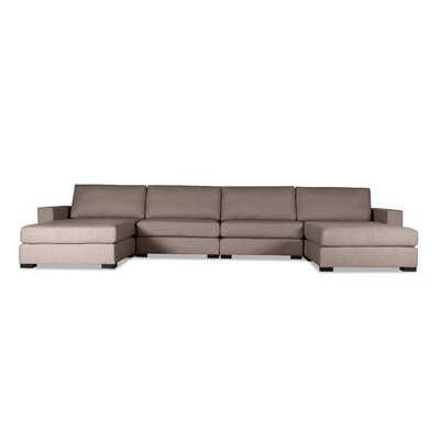 Brose U-Shape Modular Sectional Upholstery: Brown