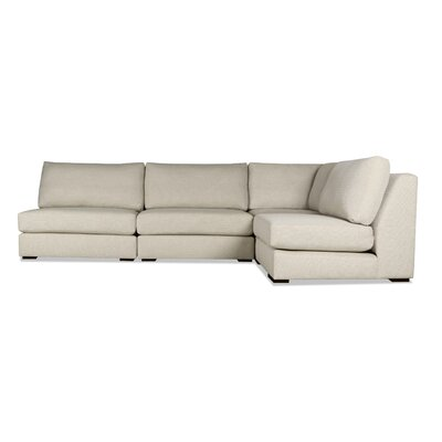 Glaude L-Shape Modular Sectional Upholstery: Sand