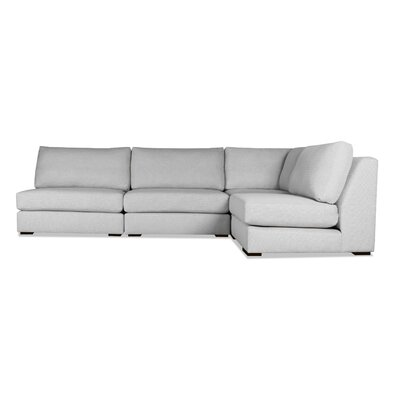 Glaude L-Shape Modular Sectional Upholstery: Gray