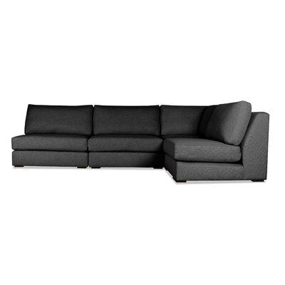 Glaude L-Shape Modular Sectional Upholstery: Charcoal