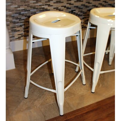 Godbolt 24 Bar Stool Color: White