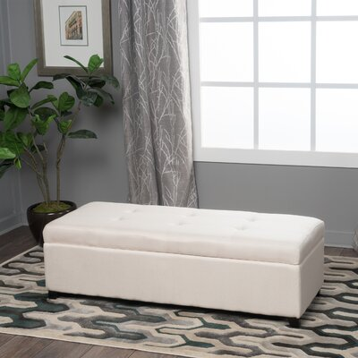 Lachesis Upholstered Storage Bench Color: Ivory