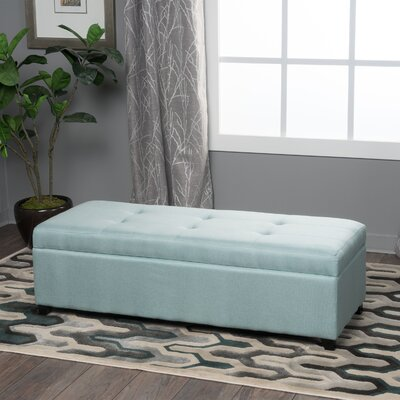 Lachesis Storage Ottoman Color: Light Blue