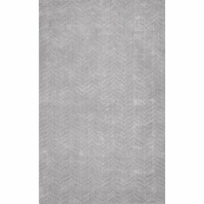 Lipford Hand-Woven Gray Area Rug Rug Size: Rectangle 5 x 8