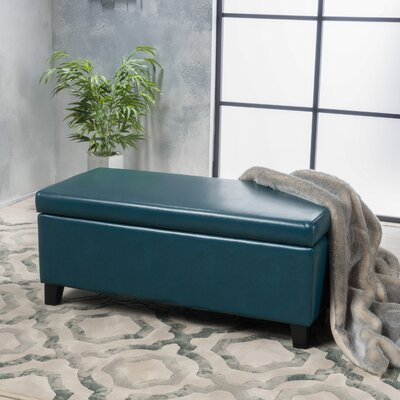 Bouldin Ottoman Upholstery: Teal