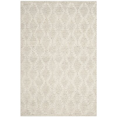 Sinope Hand-Tufted Ivory Area Rug Rug Size: Rectangle 4 x 6