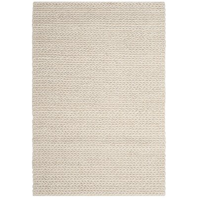 Sinope Hand-Tufted Ivory Area Rug Rug Size: Rectangle 6 x 9