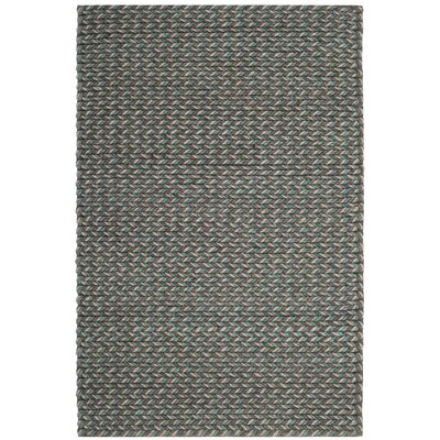 Sinope Hand-Tufted Turquoise/Gray Area Rug Rug Size: Rectangle 4 x 6