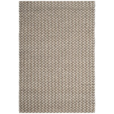Sinope Hand-Tufted Camel/Gray Area Rug Rug Size: Rectangle 4 x 6