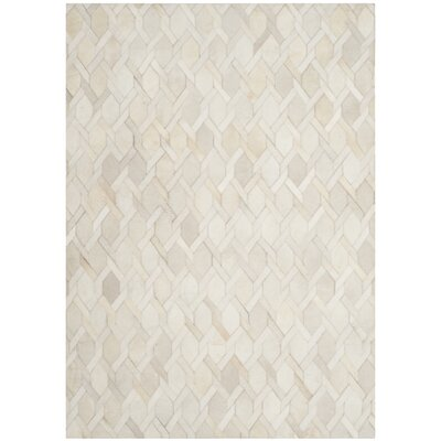 Sevastopol Hand-Woven Ivory Area Rug Rug Size: Rectangle 4 x 6