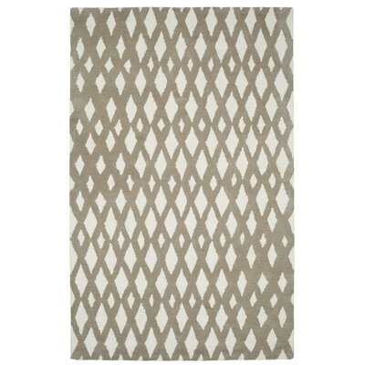 Rentz Beige/Ivory Geometric Area Rug Rug Size: Rectangle 2 x 4