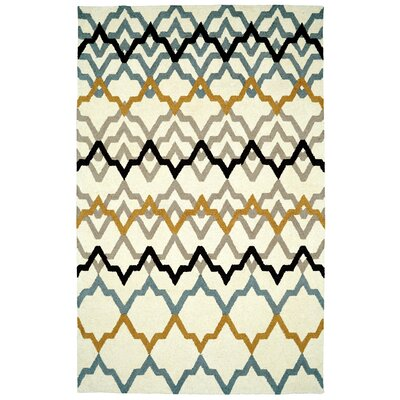 Rentz Ivory Area Rug Rug Size: Rectangle 4 x 6