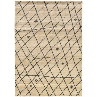 Feltner Ivory/Brown Area Rug Rug Size: Rectangle 67 x 91