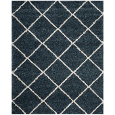 Humberto Shag Blue/Beige Area Rug Rug Size: Rectangle 8 x 10