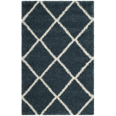Humberto Shag Blue/Beige Area Rug Rug Size: Rectangle 4 x 6