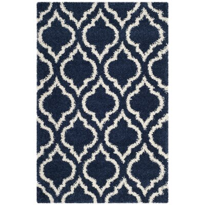 Melvin Blue/Beige Area Rug Rug Size: Rectangle 4 x 6