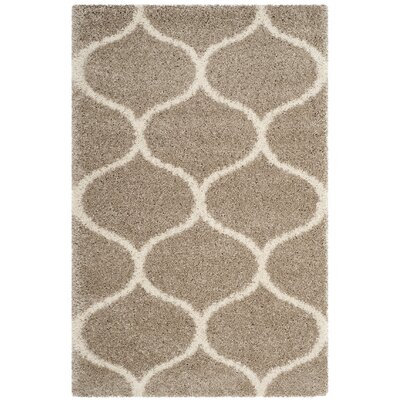 Humberto Shag Beige Area Rug Rug Size: Rectangle 4 x 6