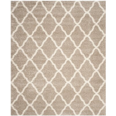 Melvin Shag Beige/Brown Area Rug Rug Size: Rectangle 8 x 10
