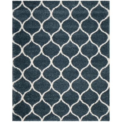 Humberto Shag Blue/Beige Area Rug Rug Size: Rectangle 8 x 10