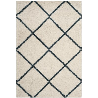 Hampstead Beige/Blue Area Rug Rug Size: Rectangle 51 x 76