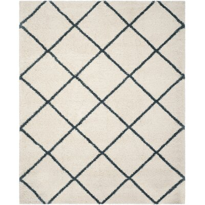 Hampstead Beige/Blue Area Rug Rug Size: Rectangle 8 x 10