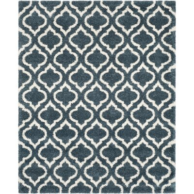 Melvin Shag Blue/Beige Area Rug Rug Size: Rectangle 8 x 10