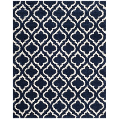 Melvin Blue/Beige Area Rug Rug Size: Rectangle 8 x 10