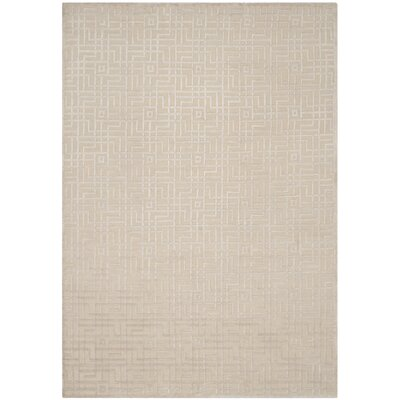 Sotion Hand-Knotted Beige Area Rug Rug Size: Rectangle 6 x 9