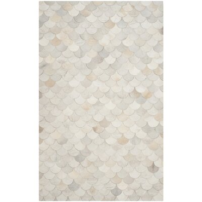 Bremner Hand-Wooven Beige/Gray Area Rug Rug Size: Rectangle 5 x 8