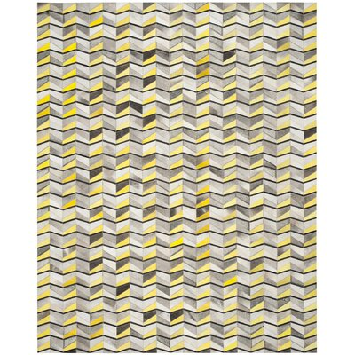 Cartwright Hand-Woven Ivory/Yellow Area Rug Rug Size: Rectangle 8 x 10