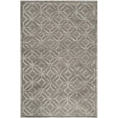Flippen Hand-Knotted Slate Area Rug Rug Size: Rectangle 8 x 10