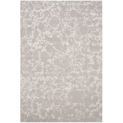 Stockwood Hand-Knotted Silver Area Rug Rug Size: Rectangle 6 x 9