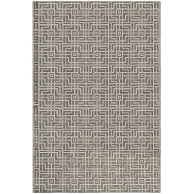 Soundview Hand-Knotted Gray Area Rug Rug Size: Rectangle 6 x 9