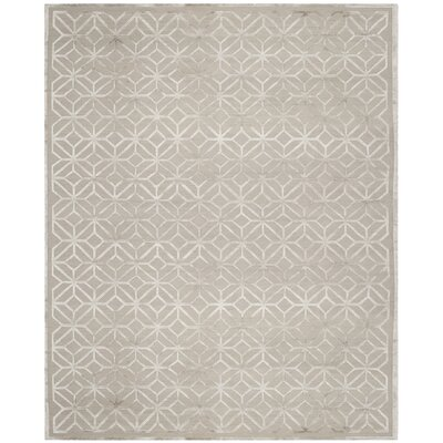 Fogg Hand Knotted Gray Area Rug